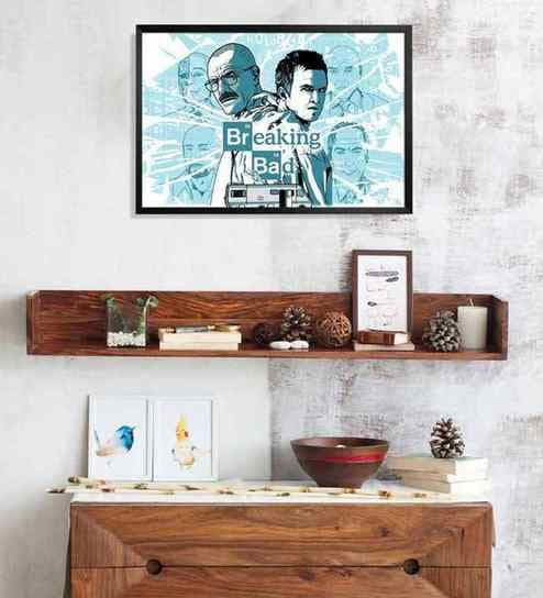 Buy Shop Mantra Breaking Bad Multicolour Wood Laminated Poster ...