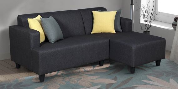 Remarkable Shayla Lhs Two Seater Lounger L Shape Sofa In Charcoal Color By Live Home Gmtry Best Dining Table And Chair Ideas Images Gmtryco