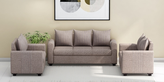 Shenzen 3 2 Sofa Set In Grey Colour By Looking Good Furniture
