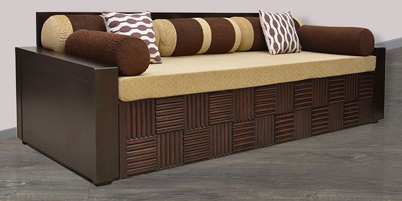 Buy Shine Sofa Cum Bed In Brown Colour By Hometown Online Engineered Wood Sofa Cum Beds Sofa