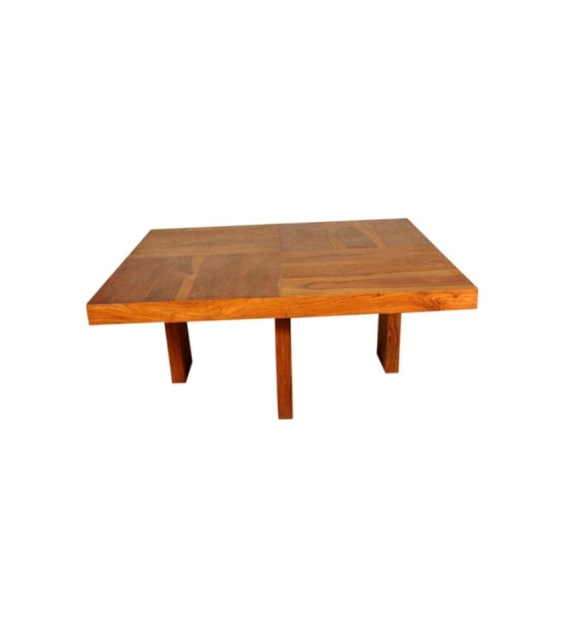Basil sheesham wood minimalist center table by mudramark for Minimalist furniture india