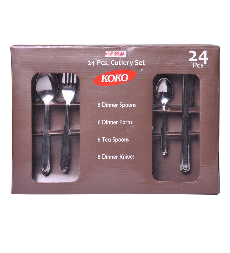 Shapes Koko New Sigma Stainless Steel 24-piece Cutlery Set