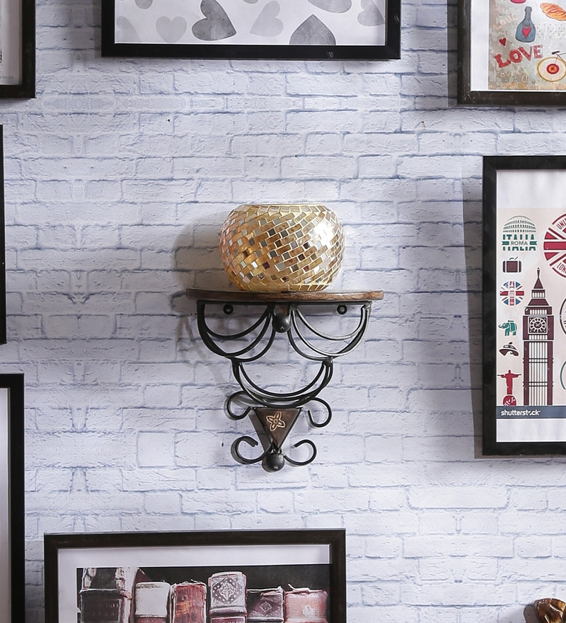 Willingdon Colonial Wall Shelf in Brown by Dream Arts