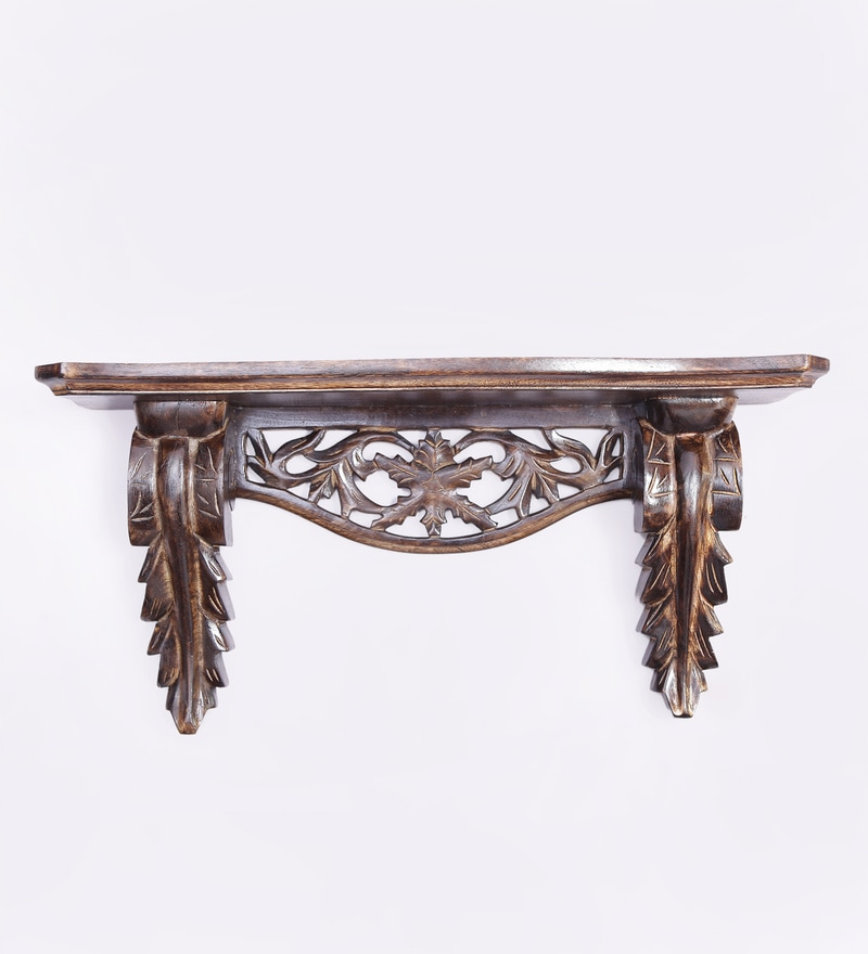 Goldfinger Wall Shelf in Brown by Dream Arts