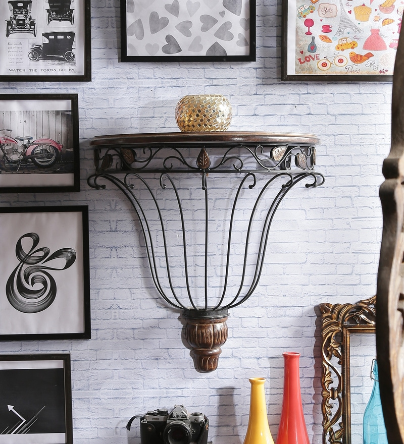 Zunckel Colonial Wall Shelf in Brown by Dream Arts