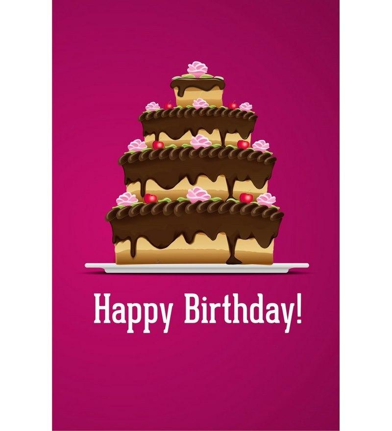Buy Shopisky Poster Delightful Birthday Cake Online Other