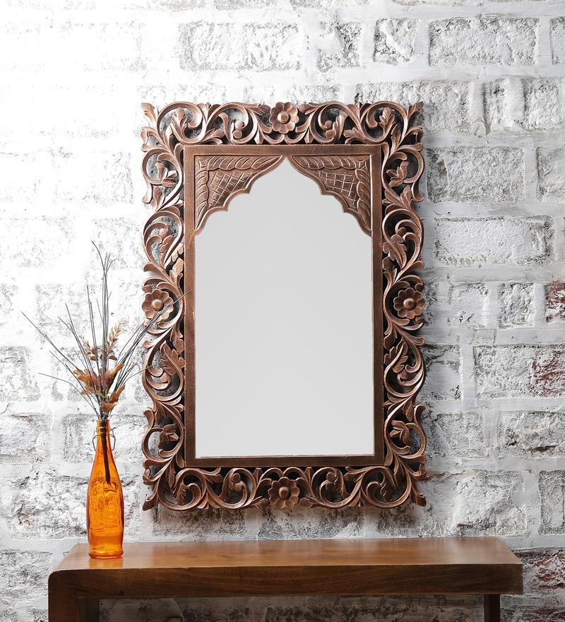 Brown MDF Popular Large Mirror by ShriNath