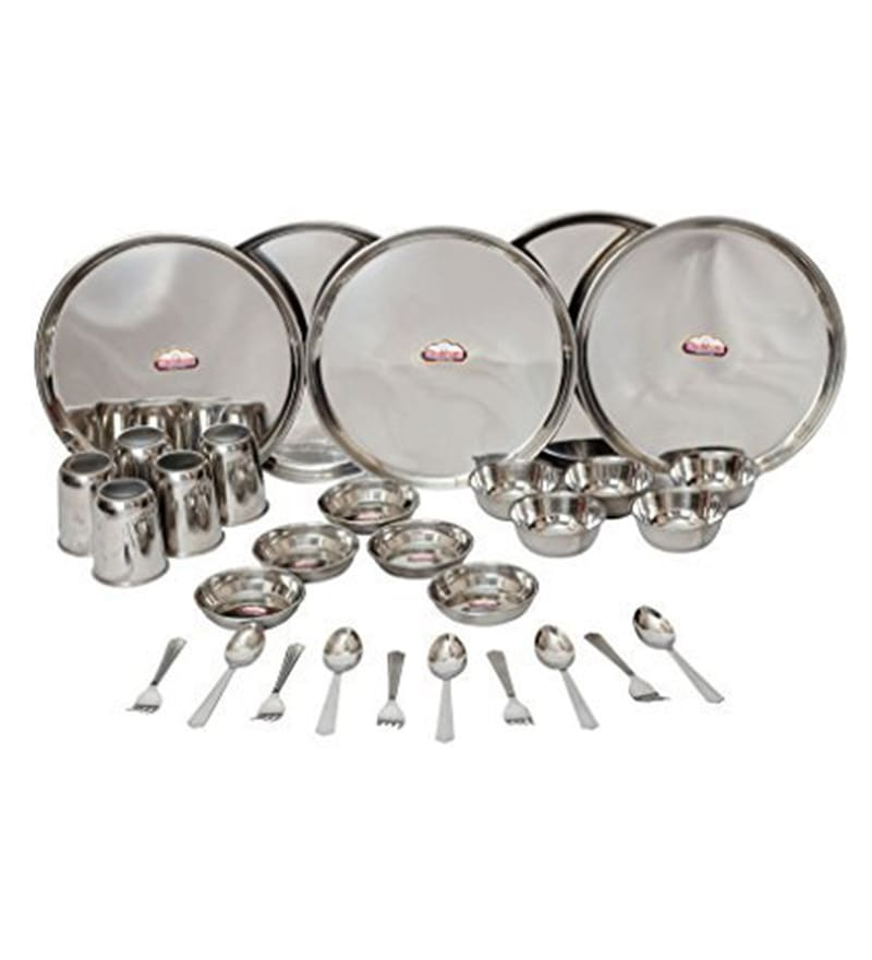 Stainless Steel Dinner Sets - Set of 30 by Shubham