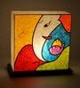 Multicolour Acrylic & Handmade Paper Table Lamp by Shady Ideas