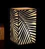 White & Black Acrylic & Handmade Paper Table Lamp by Shady Ideas