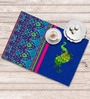 Shahenaz Home Shop Blue Poly Dupion 18 x 12 Inch Table Placemat - Set of 6
