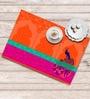 Shahenaz Home Shop Orange Poly Dupion 18 x 12 Inch Table Placemat - Set of 6