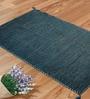 Shahenaz Home Shop Turquoise Cotton 48 x 72 Inch Solid Melange Carpet