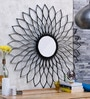 Brown Mild Steel & Glass Sunflower Mirror by Shaz Living