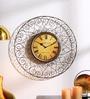 Shaz Living Gold Mild Steel 22 x 2 x 22 Inch Classic Wall Clock
