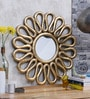 Shaz Living Gold Glass & MDF Samara Mirror