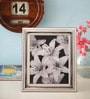 Shaze Resin with Silver Plating Double Bordered Single Photo Frame