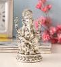 Shaze Silver Plated Lotus Ganesha Idol