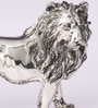 Shaze Silver Resin with Silver Plating Fierce Leo Showpiece