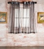 60 x 48 Inch Black Polyester Window Curtain - Set of 2 by Marigold