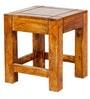Sheesham Wood Nesting Table (Set of 3) in Golden Oak Finish by Karigar