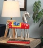 Multicolour Metal Embossed Hanging Bell Horse Showpiece by Shinexus