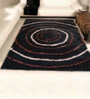 Blacks Polyester Mosaic Area Rug by Shobha Woollens