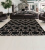 Blacks Wool Abstract Area Rug by Shobha Woollens