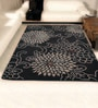 Shobha Woollens Blacks Wool Geometric Area Rug