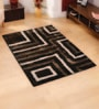 Browns Polyester Solids Area Rug by Shobha Woollens