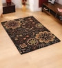 Browns Wool Florals Area Rug by Shobha Woollens