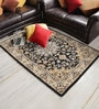 Cream & Brown Wool Area Rug by Shobha Woollens
