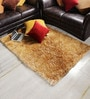 Honey Polyester Area Rug by Shobha Woollens