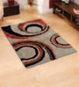 Multicolour Polyester Area Rug by Shobha Woollens