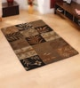 Multicolour Wool Abstract Area Rug by Shobha Woollens