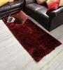 Shobha Woollens Red & Black Polyester Runner