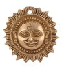 ShopEndHere Gold Brass Small Sun Wall Hanging