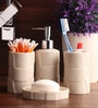 Shresmo Brown Polyresin Bathroom Accessories - Set of 4