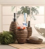 Shresmo Brown Polyresin Recto 4-piece Bathroom Accessory Set