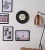 Black MDF 11.5 Inch Round Handicraft Wall Clock by ShriNath