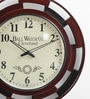 Shrinath Black MDF 18 Inch Round Handicraft Wall Clock