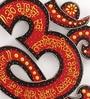 Shrinath Brown MDF 11.5 x 1.5 x 11.5 Inch Om Gaytri Mantra Emboss Handicraft Wall Clock