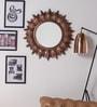 Brown MDF Diamond Look Wall Mirror by ShriNath