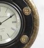 Shrinath Brown Wood & MDF 11.5 Inch Round Handicraft Wall Clock