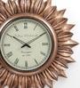 ShriNath Gold MDF 22 Inch Round Sun Handicraft Wall Clock