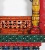 Shrinath Multicolour Mango Wood Big Jambo Jharokha