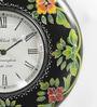 ShriNath Multicolour MDF 11.5 Inch Round Best Accent Handicraft Wall Clock