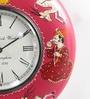 ShriNath Multicolour MDF 11.5 Inch Round Handicraft Wall Clock
