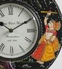 ShriNath Multicolour MDF 11.5 Inch Round Handicraft Wall Clock