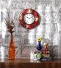 ShriNath Multicolour MDF 11.5 Inch Round Handmade Handicraft Wall Clock